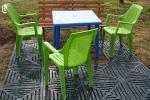 Комплект пластиковых плит для сборки садовых дорожек